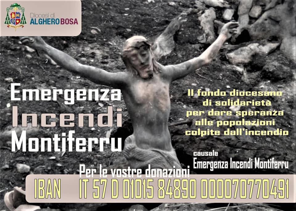 Locandina Fondo di solidarietà incendi -Alghero-Bosa